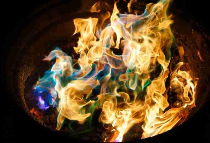 multi color fire