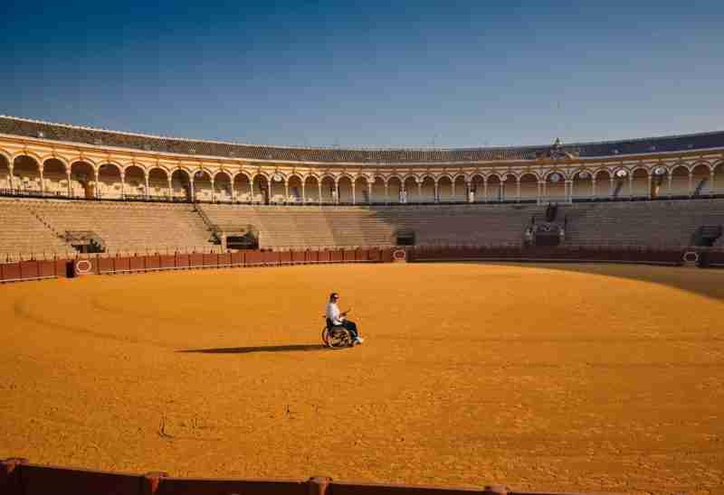 man arena wheelchair