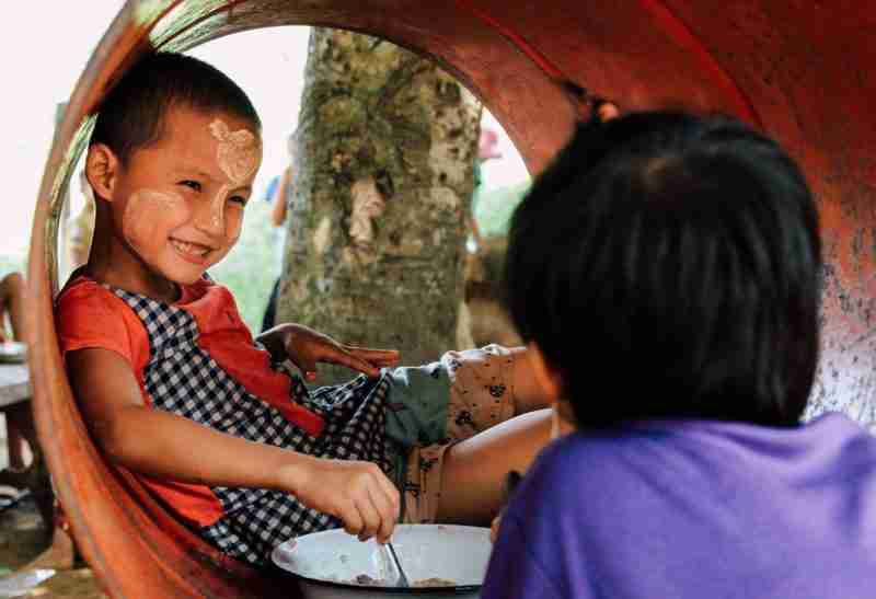 two boys playground