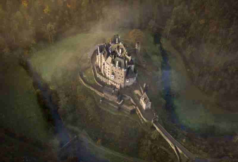 Castle cloudy